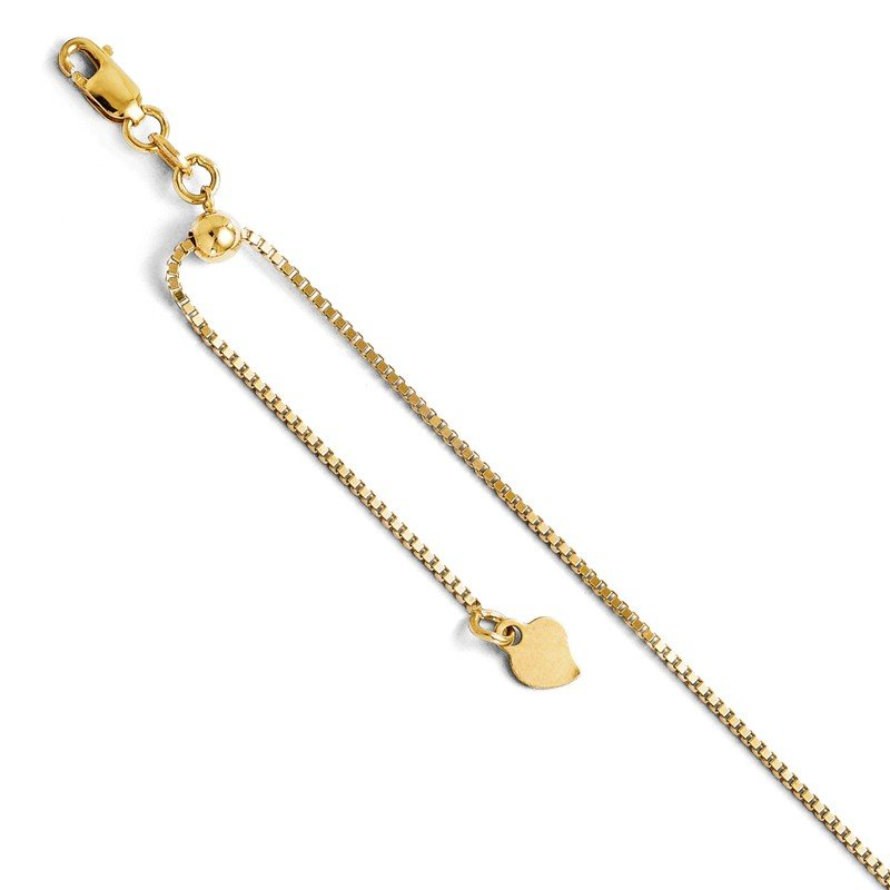 Leslie's Leslie's 14K Adjustable Box Chain
