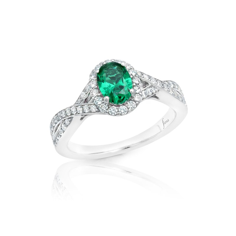 Look of Love Emerald and Diamond Criss-Cross Ring
