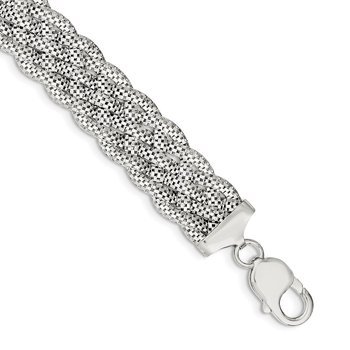 Sterling Silver Braided Bracelet
