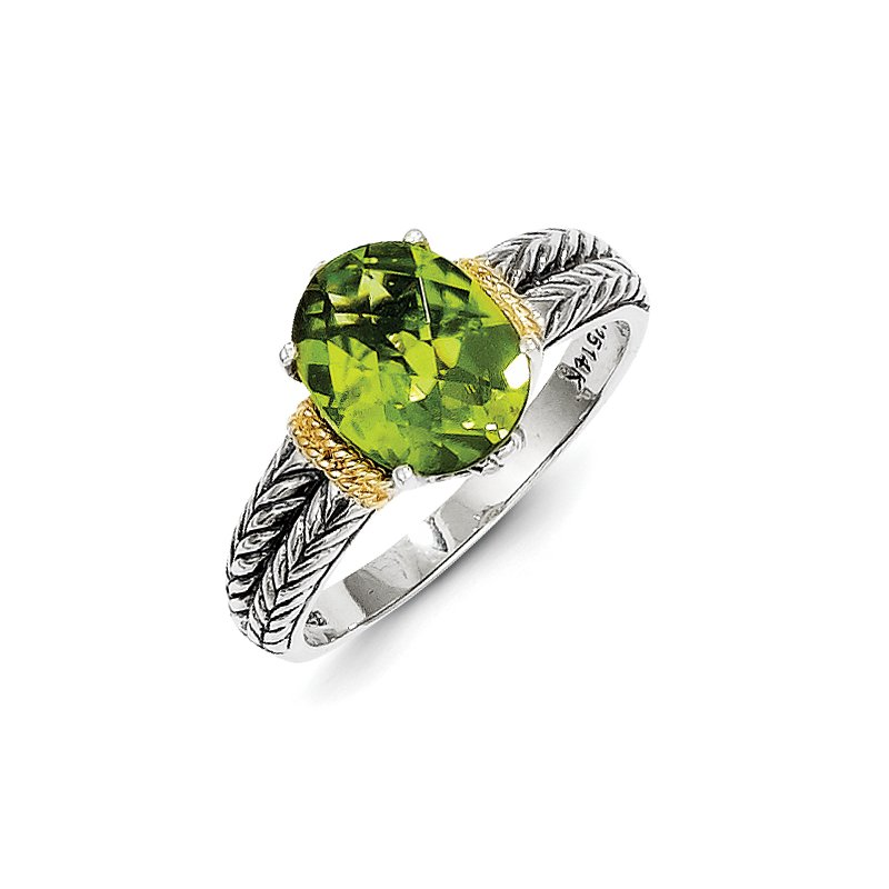 Shey Couture Sterling Silver w/14k Peridot Ring