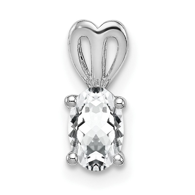 Quality Gold Sterling Silver Rhodium-plated White Topaz Pendant