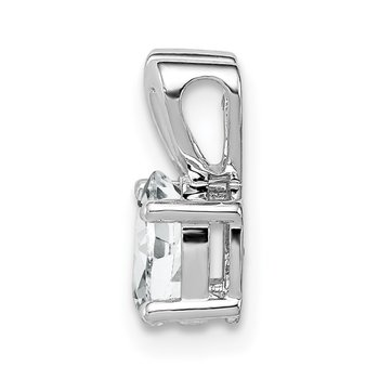 Sterling Silver Rhodium-plated White Topaz Pendant