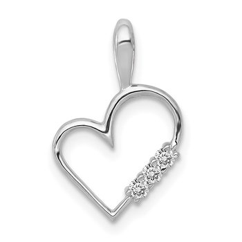 14k Rose Gold AA 1/20ct. Diamond Heart Pendant