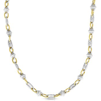 Sterling Silver & 18K Gold Victorian Link Necklace