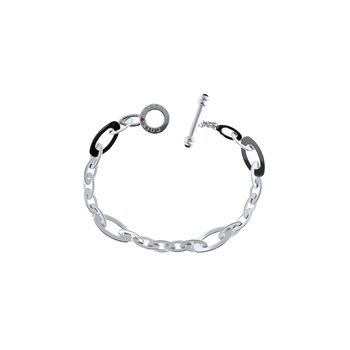 18Kt White Gold Small Link Bracelet
