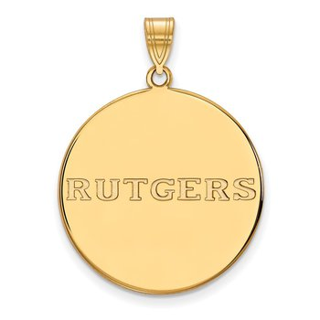 Gold-Plated Sterling Silver Rutgers University NCAA Pendant