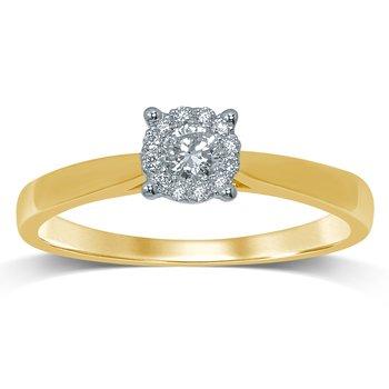 14K 0.25 Ct Diamond Ring