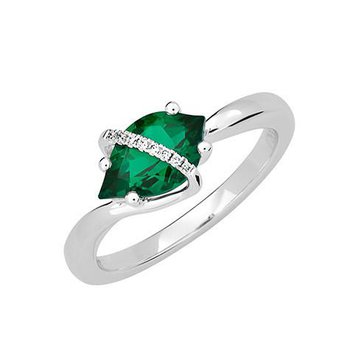 Emerald Ring-CR12384WEM
