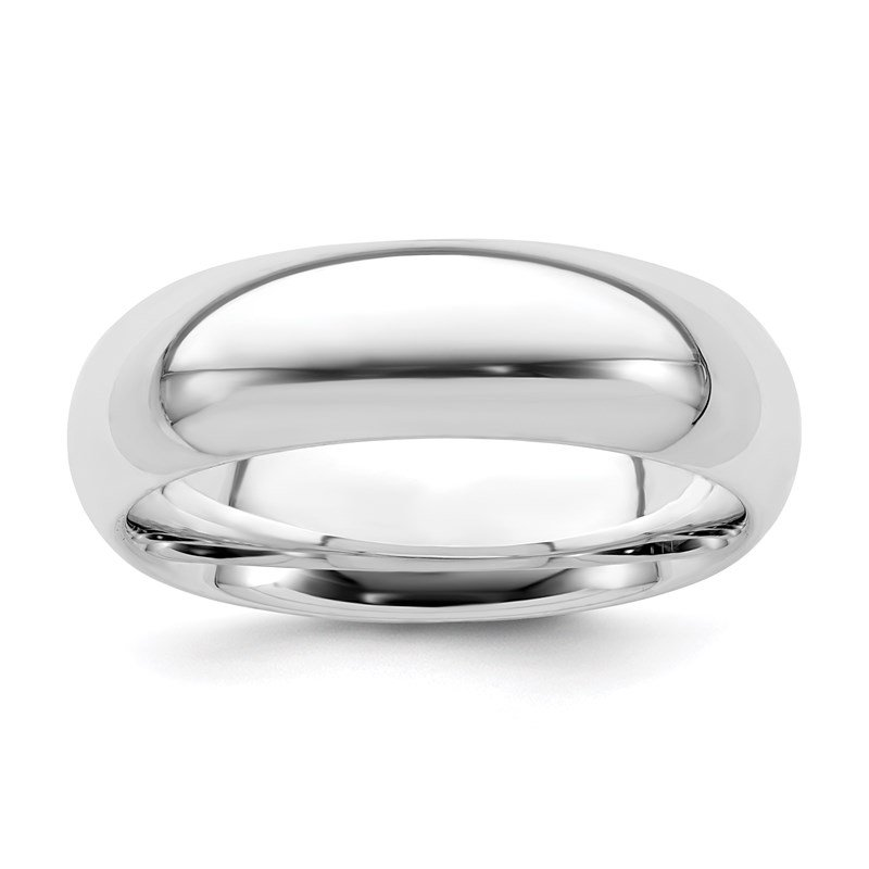 Quality Gold Sterling Silver Rhodium-plated 6mm Comfort Fit Band