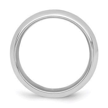 Sterling Silver Rhodium-plated 6mm Comfort Fit Band