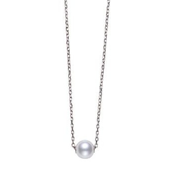 Akoya Single Pearl Pendant in 18K White Gold. Available at our Halifax Store.