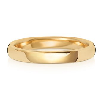 18Ct Yellow Gold 2.5mm Soft Court Wedding Ring