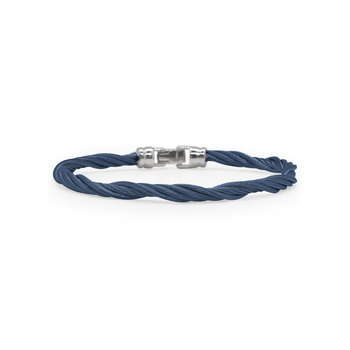 Blueberry Cable Modern Twist Bracelet