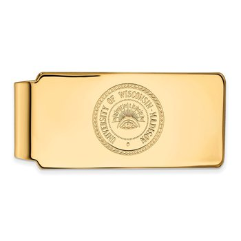 Gold-Plated Sterling Silver University of Wisconsin NCAA Money Clip
