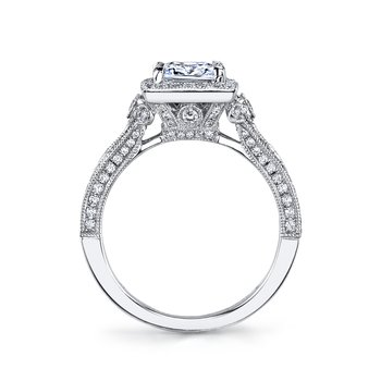 MARS 25965 Diamond Engagement Ring 0.61 Ctw.