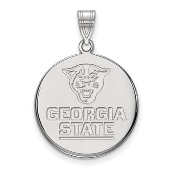 Sterling Silver Georgia State University NCAA Pendant