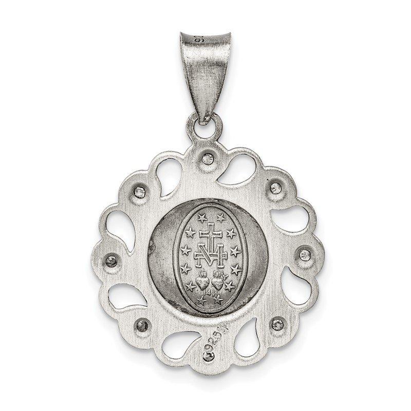925 Sterling Silver Cognac /& White C Z Pendant LH-1160