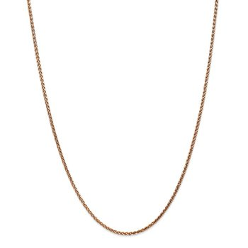 14k Rose Gold 1.8mm D/C Spiga Chain
