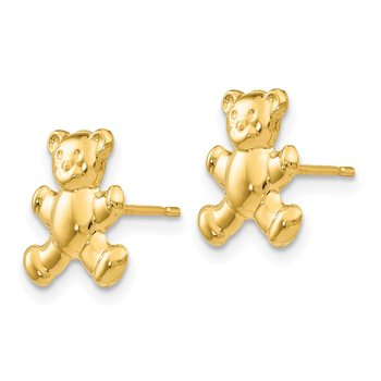 14k Teddy Bear Post Earrings