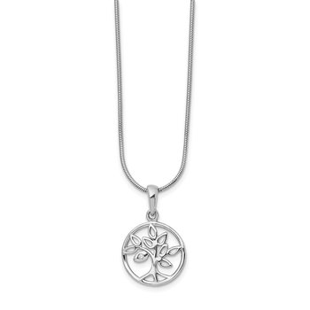 SS White Ice Diamond Tree Necklace