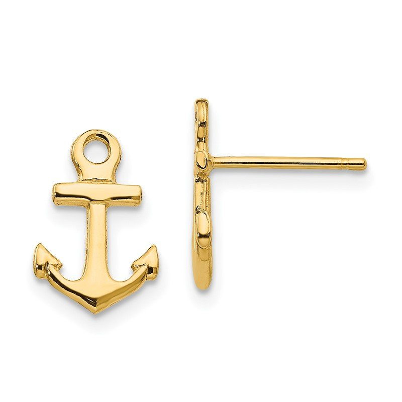 Quality Gold 14K Anchor Post Earrings