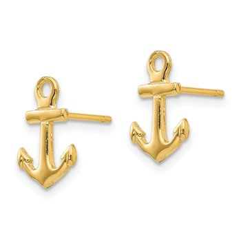 14K Anchor Post Earrings