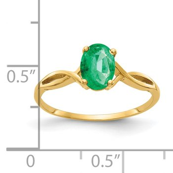 14k 7x5mm Oval Emerald ring