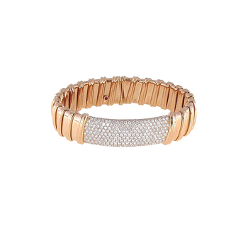 18KT ROSE GOLD PAVE DIAMOND BANGLE