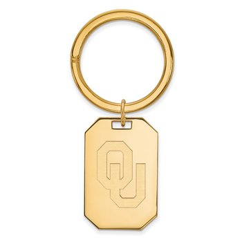 Gold-Plated Sterling Silver University of Oklahoma NCAA Key Chain