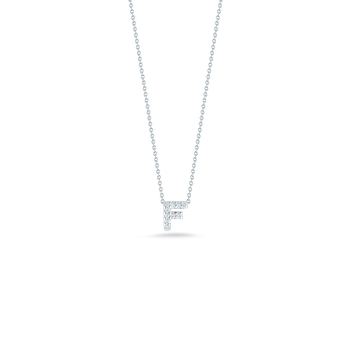 18Kt Gold Love Letter F Pendant With Diamonds