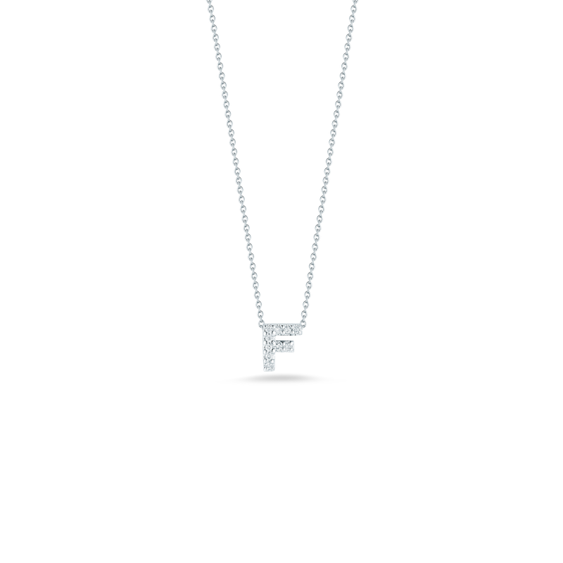 Roberto Coin 18Kt Gold Love Letter F Pendant With Diamonds