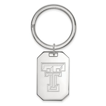 Sterling Silver Texas Tech University NCAA Key Chain