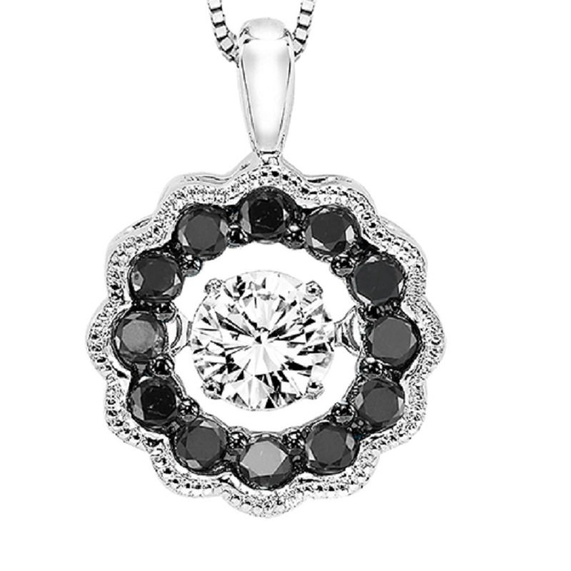 Rhythm of Love 14K Black & White Diamond Rhythm Of Love Pendant 3/8 ctw