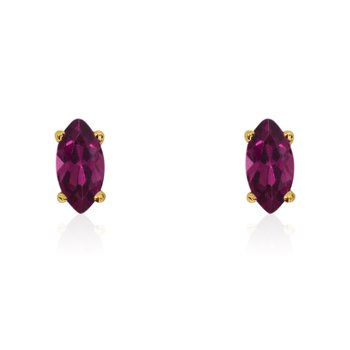 14k Yellow Gold Ruby Marquise Earrings