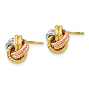 Leslie's 14K Tri-Color Polished Love Knot Post Earrings