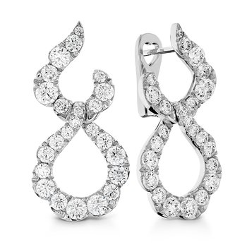 3.3 ctw. Lorelei Crescent Diamond Drop Earrings