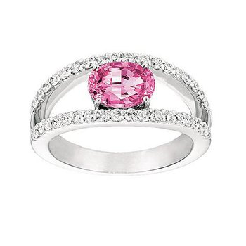 Pink Sapphire Ring-CR6653WPS