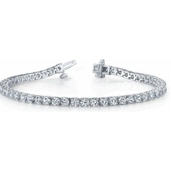 Diamond Bracelet Four Prong Basket Style