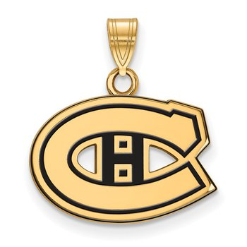 Gold-Plated Sterling Silver Montreal Canadiens NHL Pendant