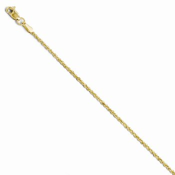 Leslie's 10K 1.8mm Diamond Cut Lightweight Rope Chain