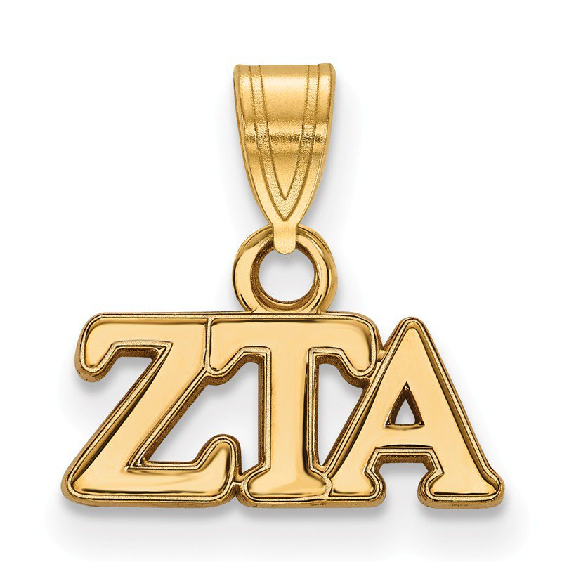 Greek Life Gold-Plated Sterling Silver Zeta Tau Alpha Greek Life Pendant