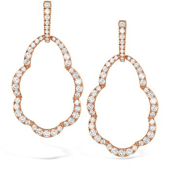 3.45 ctw. Lorelei Open Drop Diamond Earrings