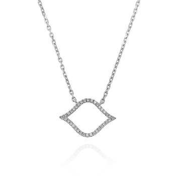 Open Diamond Necklace 18KW