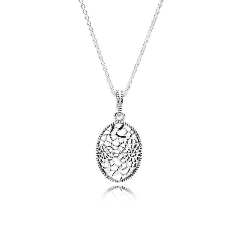 578e74103 David Arlen Jewelers: PANDORA Floral Daisy Lace Pendant Necklace