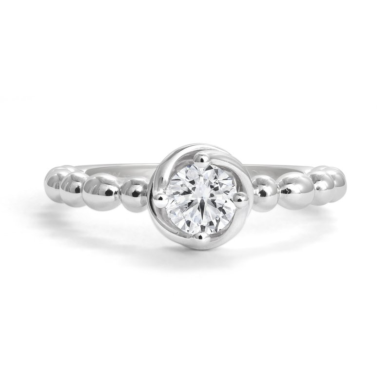 Canadian Rocks Diamond Twist Solitaire Engagement Ring