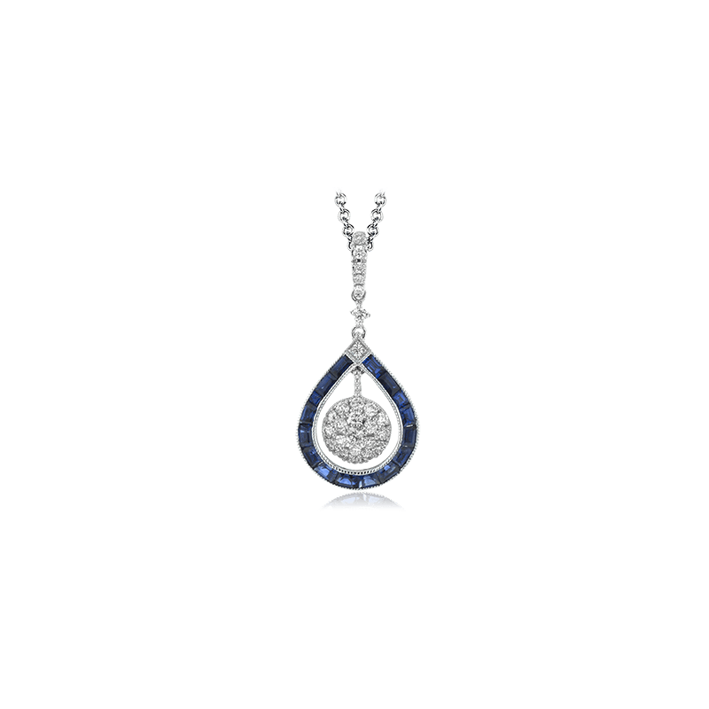 Zeghani ZP875 COLOR PENDANT