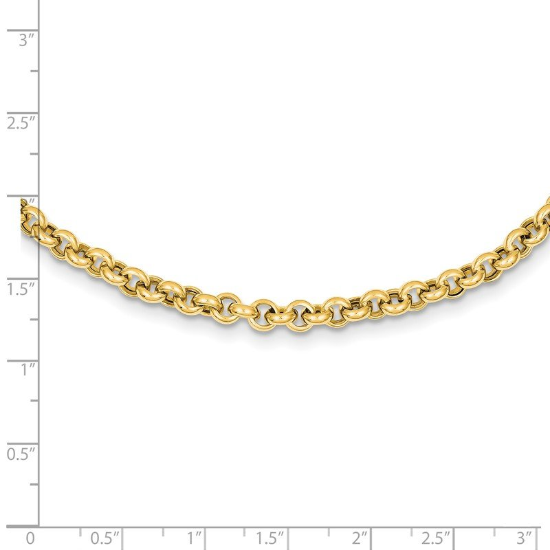 Fine Jewelry by JBD 14k 18in 5mm Polished Fancy Rolo Link Necklace