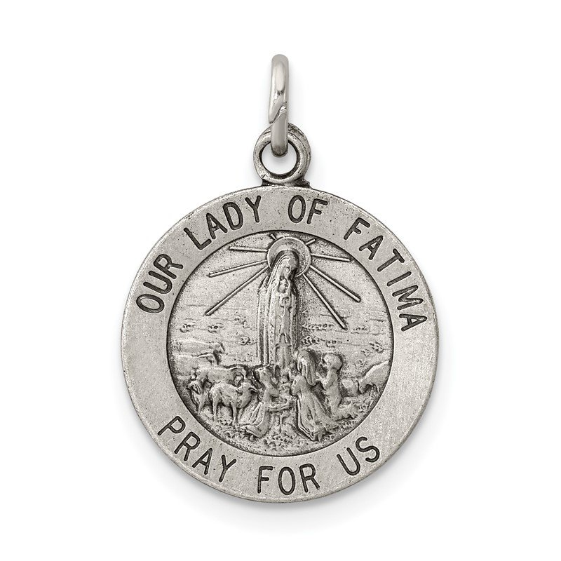 Quality Gold Sterling Silver Our Lady of Fatima Medal