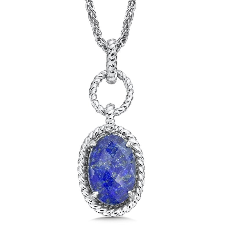 Colore Sg Sterling silver, and lapis fusion pendant