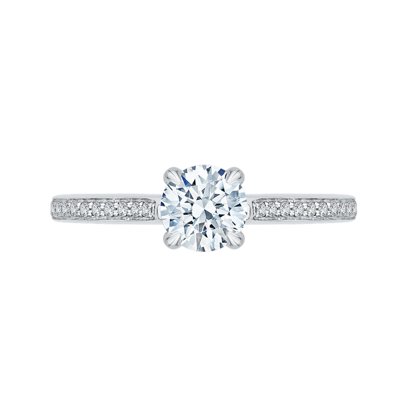 Promezza 14K White Gold Round Cut Diamond Engagement Ring